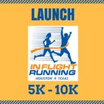 in flight running launch 5k 10k