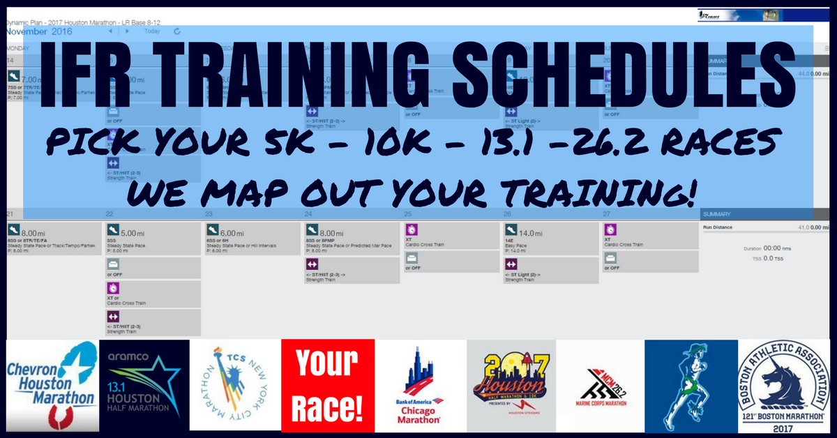 running race training schedule